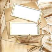 Stamp-frames on vintage background — Stock Photo
