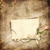 Beautiful card for congratulations or invitation on the vintage background — Stock Photo