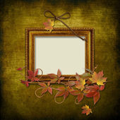 Vintage frame on grunge background — Stock Photo