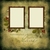 Vintage beautiful frames on old grunge background — Stock Photo