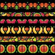 Fruity juicy patterns — Stock Vector