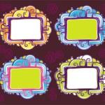 Vector set of cool design retro frames — Stock Vector