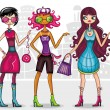 Stock Vector: Urbfashion girls (fashion series)