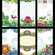 Royalty-Free Stock Vector Image: Colorful floral cards set (floral series