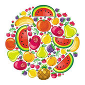 Fruity planet — Stock Vector