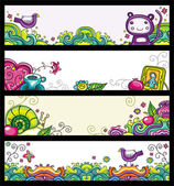 Floral banners 2 (floral series) — Stock Vector