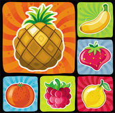Fruity icons set_1 — Stock Vector