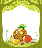 Fruity background — Stock Vector