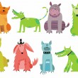 Colorful dogs set — Stok Vektör