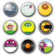 Colorful bottle caps 9 - vector set — Stock Vector #3567880