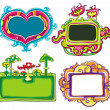 Vector set of cute frames — Stock Vector