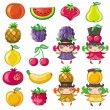 Royalty-Free Stock Vector Image: Fruity set