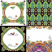 Abstract background set ( floral series) — Stock Vector