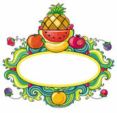 Fruity frame — Stock Vector
