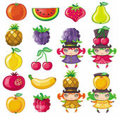 Fruity set — Stock Vector