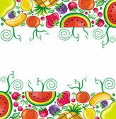 Fruity framework — Stock Vector