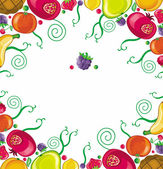 Fruity framework — Stock Vector