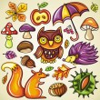 Autumnal set — Stock Vector #3908942