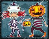 Halloween Kids Trick Or Treating 3 — Vector de stock
