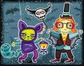 Halloween kids series 2 — Stock Vector