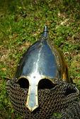 Rytířský helmu — Stock fotografie