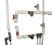Water pipes and cranes — Stock Photo