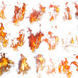 Royalty-Free Stock Photo: Fire templates