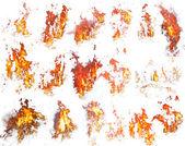 Fire templates — Stock Photo