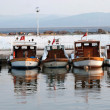 City harbor with boats - Stock Photo