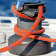 Winch with rope — Stock Photo