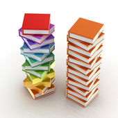 Colored books on white — Stock Photo
