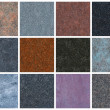 12 seamless natural granite textures — 图库照片