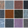 12 seamless natural granite textures — Foto de Stock