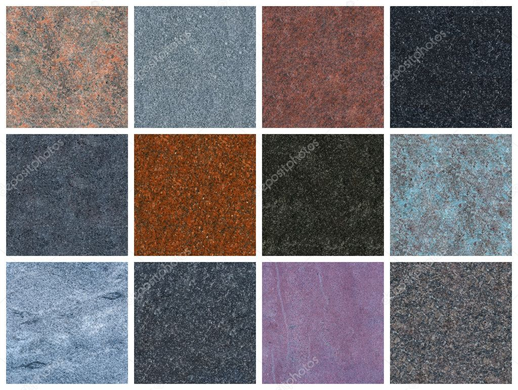 12 fully seamless granite textures. Only natural granite — Stock Photo #3309191