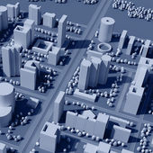 3d map of city — Stock Photo