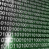 Binary matrix array — Stock Photo