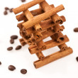 Stock Photo: Cinnamon and coffee