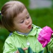 Stock Photo: Girl and flower