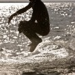 Jumping boy — Stockfoto