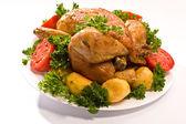 Grillad kyckling — Stockfoto