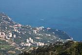 View series: Sea landscape with mountain, Ukraine, Crimea, Yalta — Stock Photo