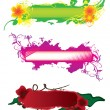 Royalty-Free Stock Vector Image: Set of hand-drawn banners