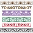 Traditional architectural ornament set - Stock Vector