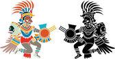 Quetzalcoatl stencil — Stock Vector