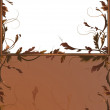 Royalty-Free Stock Vector Image: Fantasy background with brown branches