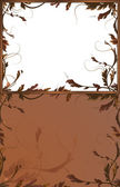 Fantasy background with brown branches — Stock Vector
