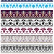 Traditional architectural ornament and stencil set — Stock Vector