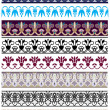 Traditional architectural ornament and stencil set - Stock Vector