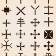 Set of different crosses stencils vector illustration — Stock Vector