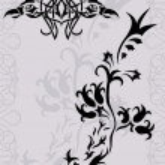 Fantasy phoenix tatto silhouette — Stock Vector